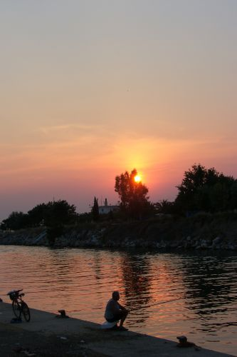 Zdjęcia: Kassandra, Chalkidiki, Zachód słońca nad kanałem, GRECJA