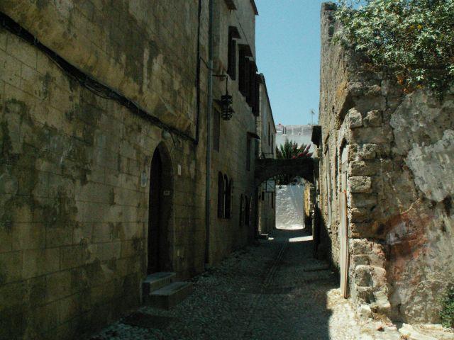 Zdjęcia: Rodos, Stare Miasto, Rodos, Uliczka Starego Miasta w Rodos, GRECJA