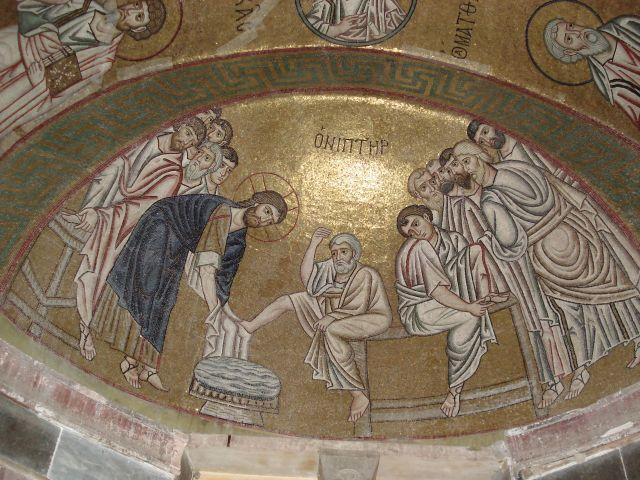 Zdjęcia: Hosios Loukas, Beocja, Sztuka Grecji - mozaiki (3), GRECJA