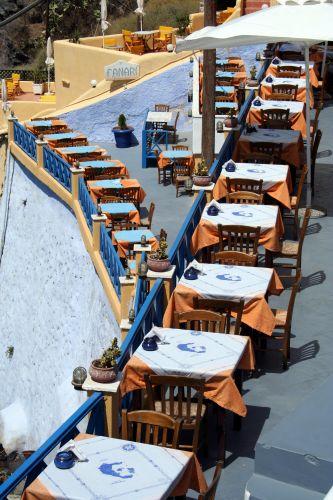 Zdj�cia: Fira, Cyklady, Santorini, Tawerna, GRECJA