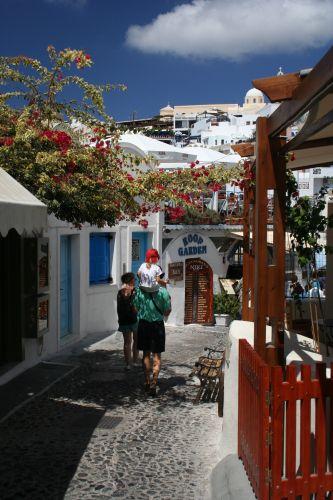 Zdj�cia: Fira, Cyklady, Santorini, Uliczka, GRECJA