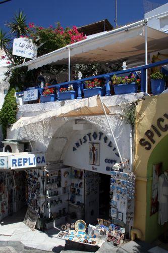 Zdjęcia: Fira, Cyklady, Santorini, Sklepik z pamiątkami, GRECJA