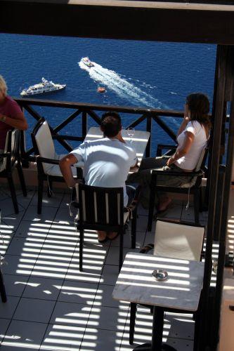 Zdjęcia: Fira, Cyklady, Santorini, Kafejka z widokiem 1, GRECJA