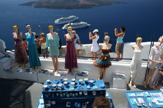 Zdjęcia: Fira, Cyklady, Santorini, Turystki :-), GRECJA