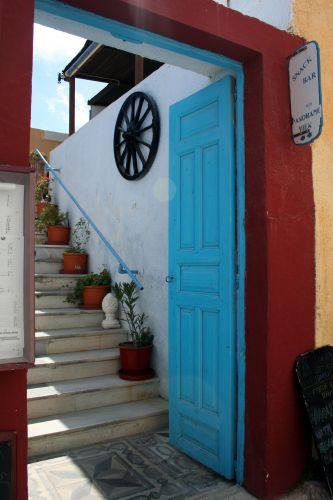 Zdjęcia: Fira, Cyklady, Santorini, Uliczka w lewo, GRECJA