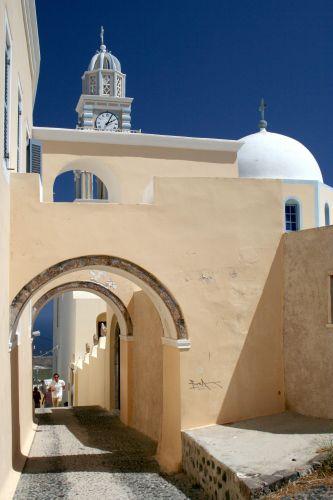 Zdjęcia: Fira, Cyklady, Santorini, Uliczka na wprost, GRECJA
