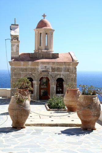Zdjęcia: Moni Preveli, Moni Preveli, Klasztor, GRECJA