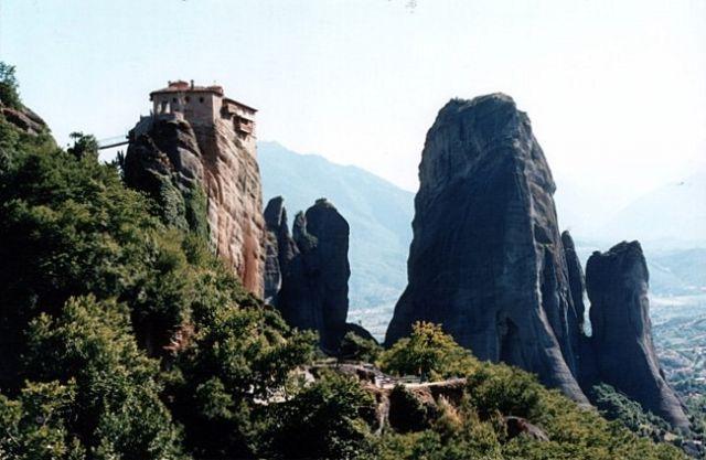 Zdjęcia: okolice Kastraki, METEORY, Monaster Roussanou #2, GRECJA