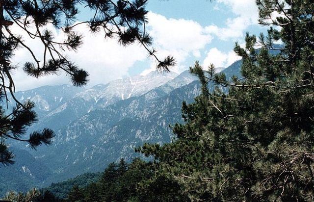 Zdjęcia: 17 km na zachód od Litochoronu, Macedonia, Pasmo Olimp - najwyższy szczyt Mitikas (2917 m), GRECJA
