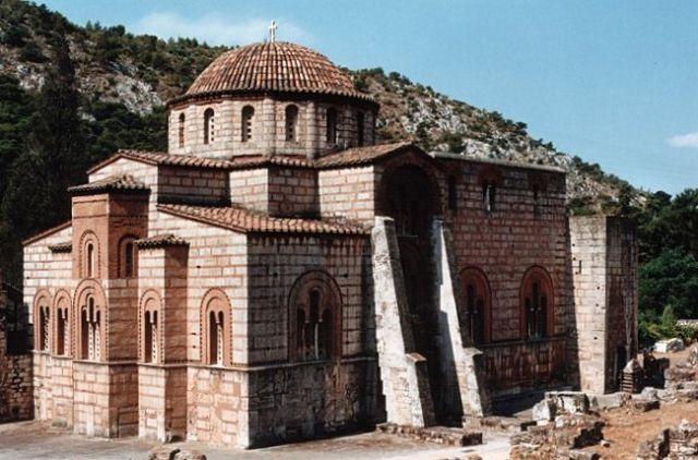 Zdjęcia: DAFNI, Klasztor w Dafni #2, GRECJA