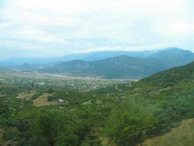 Zdjęcia: Parnas, Delfy, widok z Parnasu, GRECJA