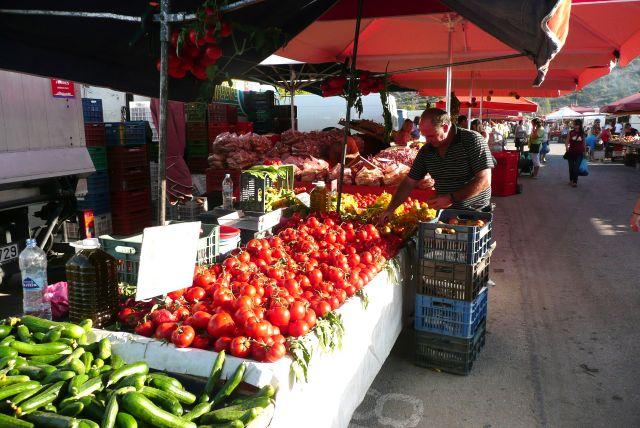 Zdjęcia: Spetses - rynek, Peloponez, Warzywniak, GRECJA