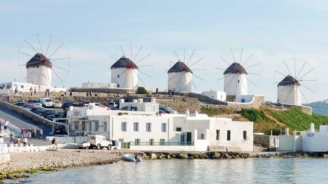 Zdjęcia: Mikonos , Mikonos, Wiatraki na Mikonos, GRECJA