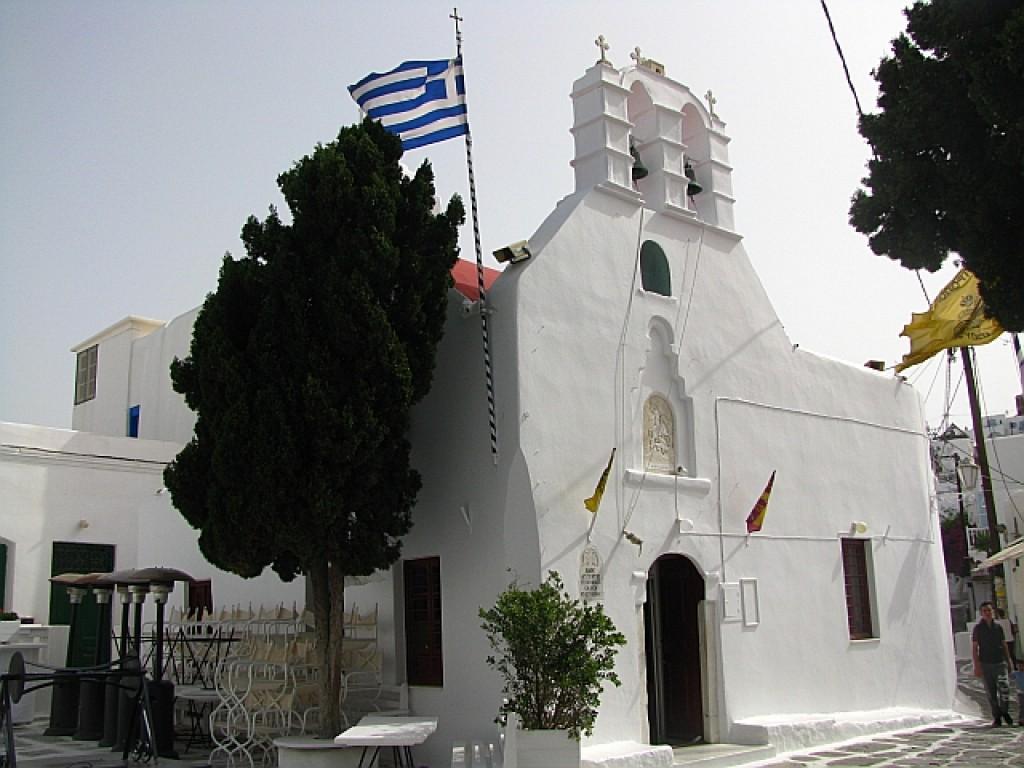 Zdjęcia: Mykonos, Cyklady, katedra, GRECJA