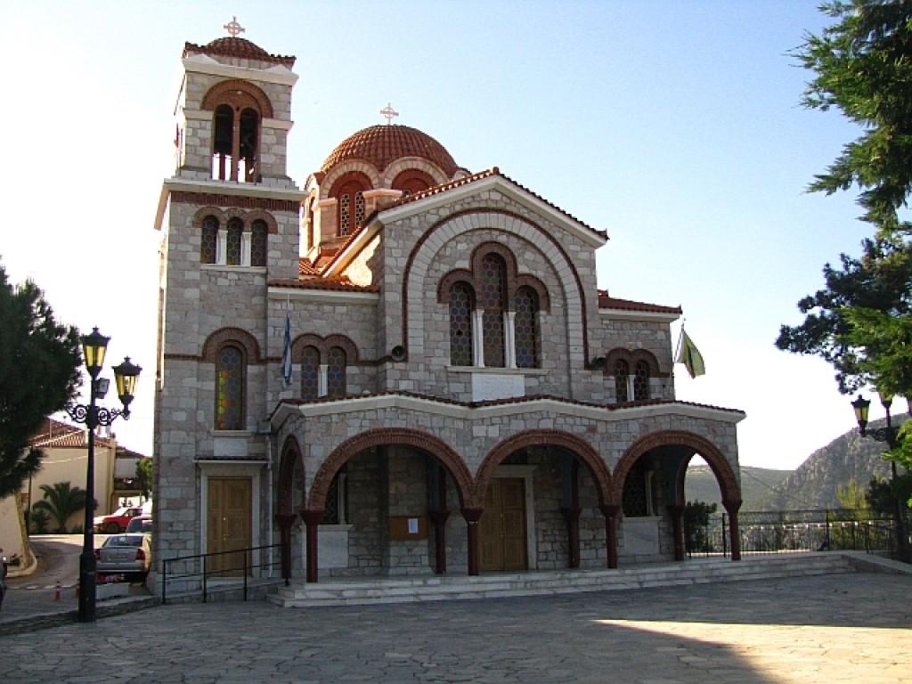Zdjęcia: Delfy, Fokida, grecka cerkiew, GRECJA