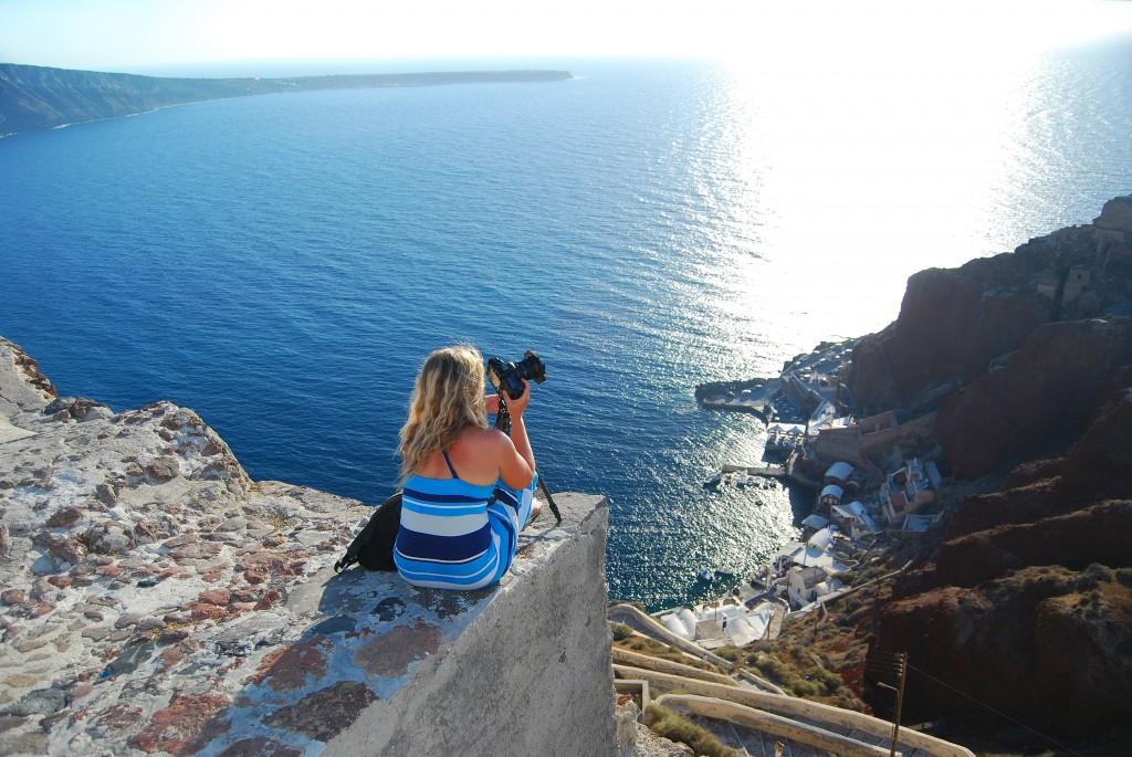 Zdjęcia: Santorini, Santorini, Oczekiwanie na zachód Słońca, GRECJA