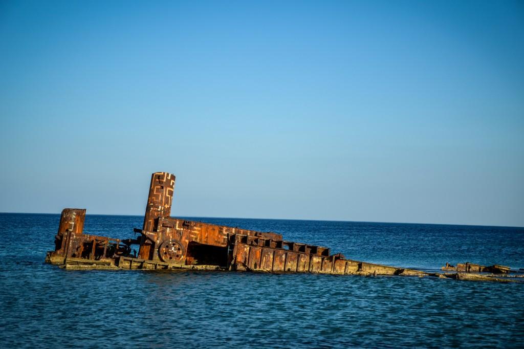 Zdjęcia: Epanomi, Saloniki, wrak statku, GRECJA