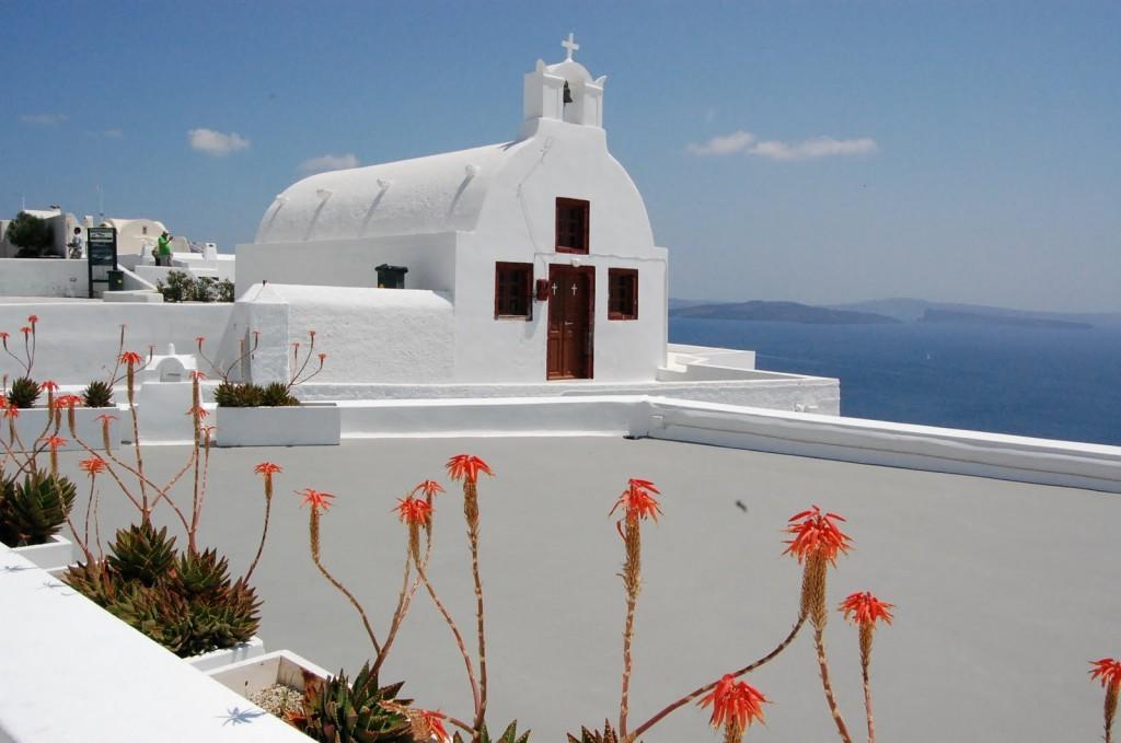 Zdjęcia: Santorini, Kapliczka., GRECJA