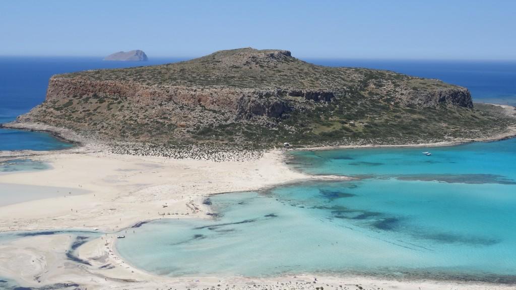 Zdjęcia: Gramvousa, Kreta, Widok na wyspę Gramvousa, GRECJA