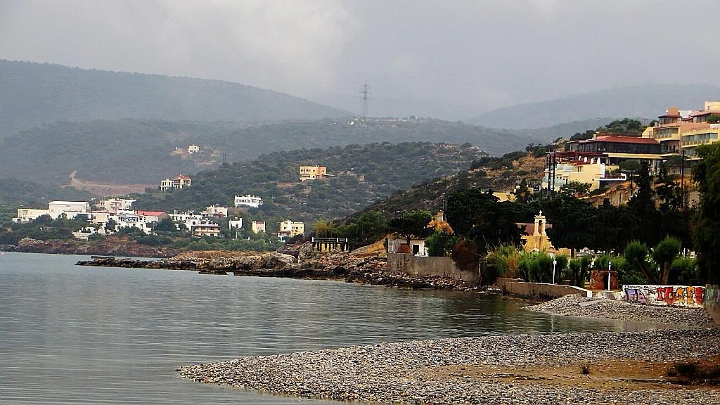 Zdjęcia: Agios Nikolaos, Kreta, Agios Nikolaos w deszczu, GRECJA