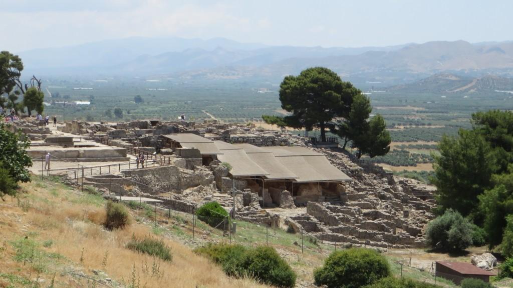Zdjęcia: Faistos, Kreta, panorama pozostałości pałacu w Fajstos, GRECJA