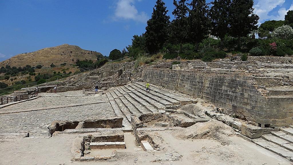 Zdjęcia: Faistos, Kreta, pozostałości pałacu w FAJSTOS, GRECJA