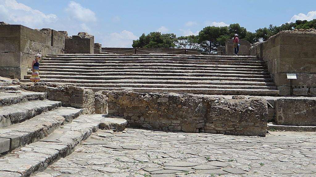 Zdjęcia: Fajstos, Kreta, pozostałości pałacu w Fajstos, GRECJA