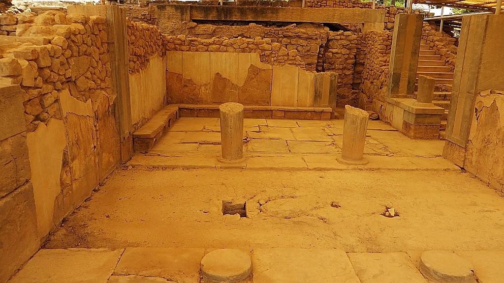 Zdjęcia: Fajstos, Kreta, komnata królowej, GRECJA