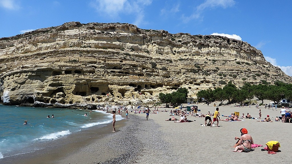 Zdjęcia: Matala, Kreta, plaża w Matala, GRECJA