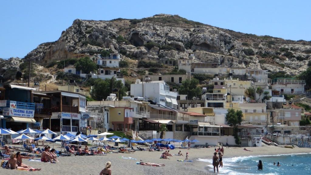 Zdjęcia: Matala, Kreta, nadmorskie klify, GRECJA