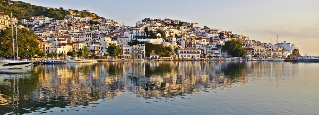 Zdjęcia: Skopelos, Tesalia, Panorama Skopelos, GRECJA