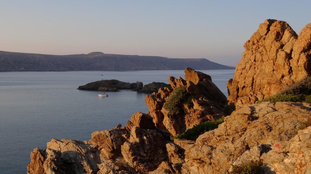 Zdjęcia: Zatoka Vai, Kreta Wschodnia, Zatoka Vai o zachodzie słońca, GRECJA