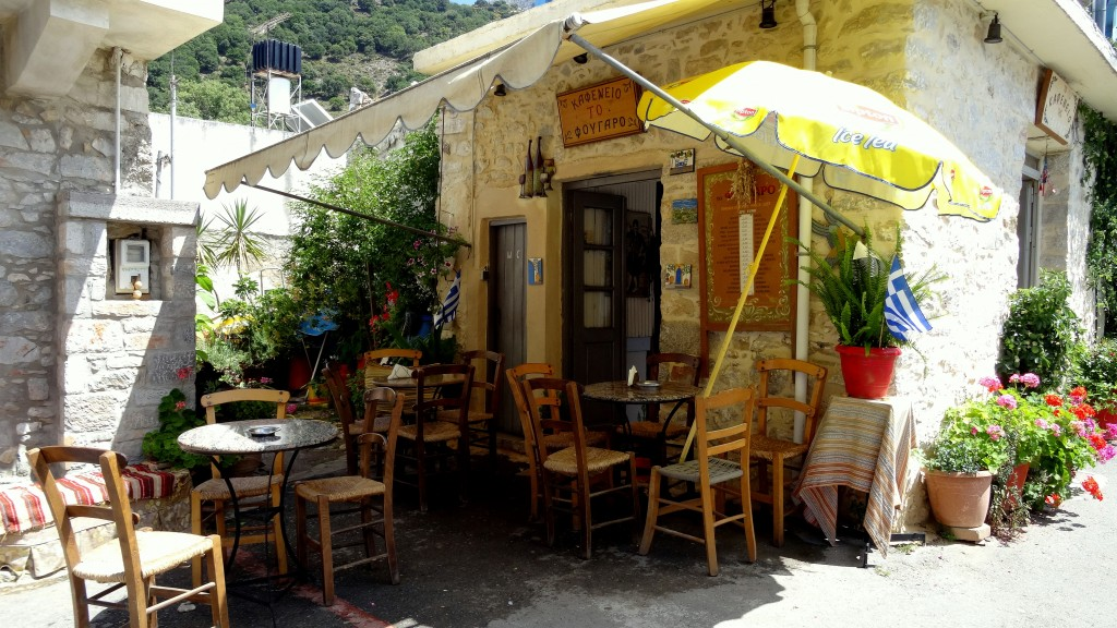 Zdjęcia: Kreta, Kreta Wschodnia, Wiejska kafejka, GRECJA