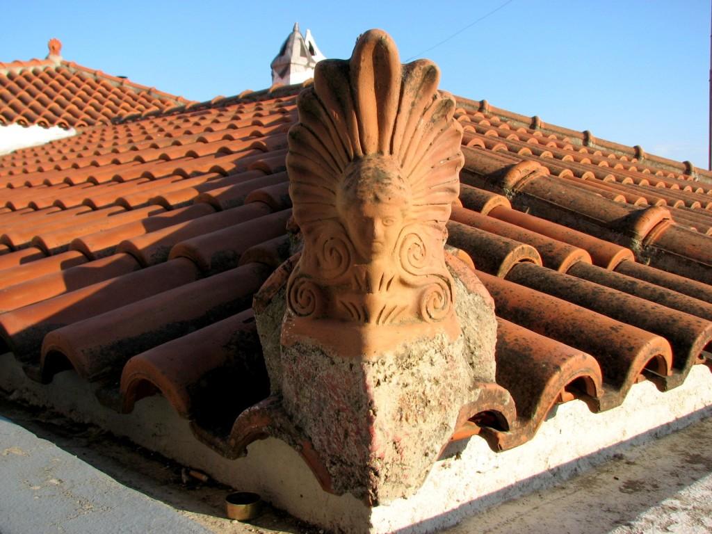 Zdjęcia: Skopelos, Morze Egejskie, Dach, GRECJA