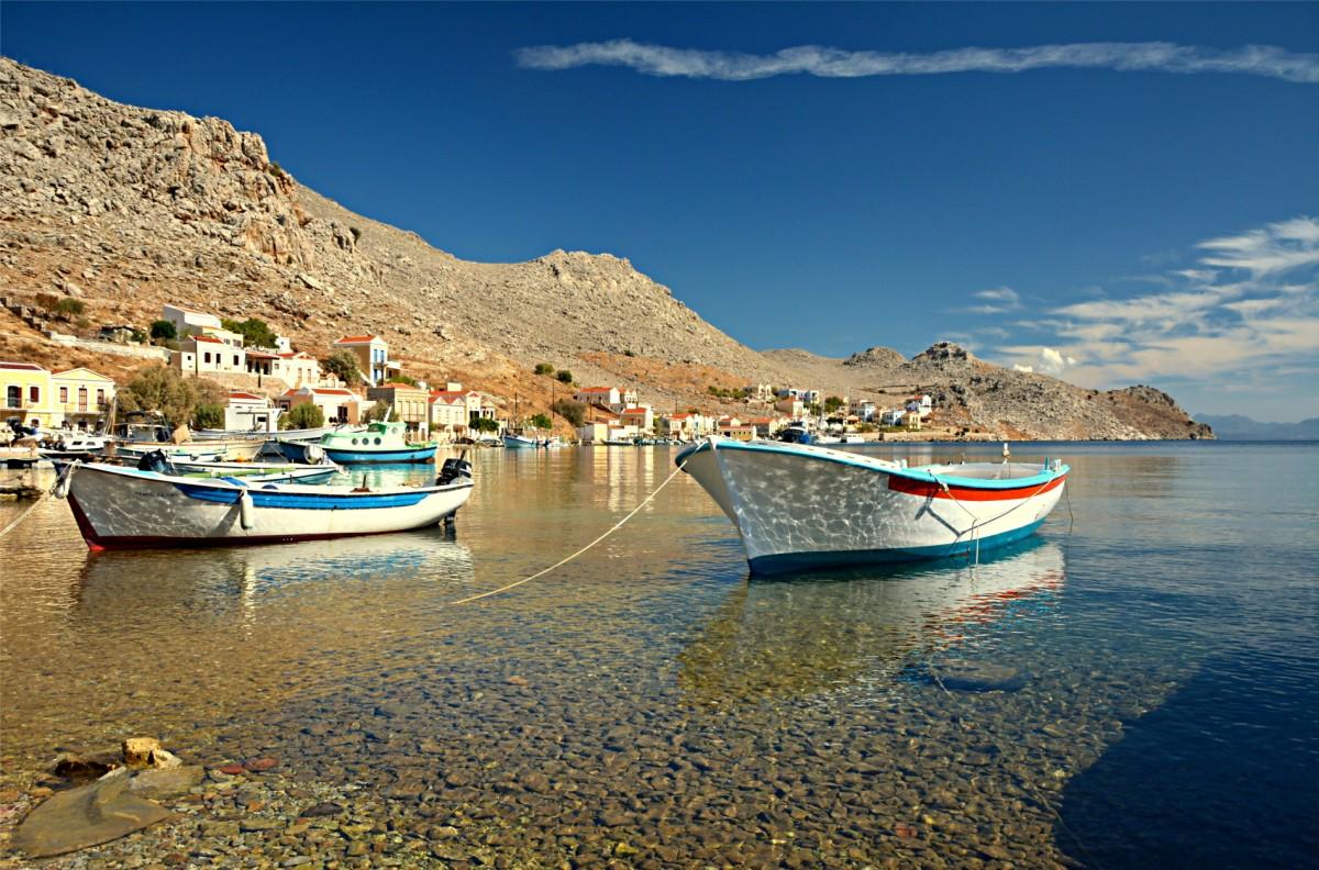 Zdjęcia: Symi, Dodekanez, Zatoka w Pedi, GRECJA