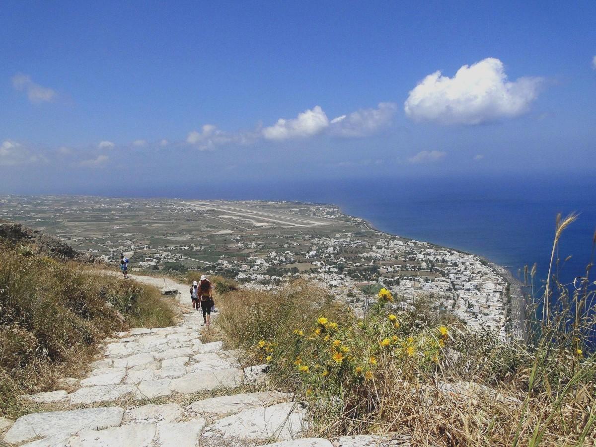 Zdjęcia: Szczyt Mesa Vouno - starożytna Thera, Santorini, Trochę inna Santorini., GRECJA