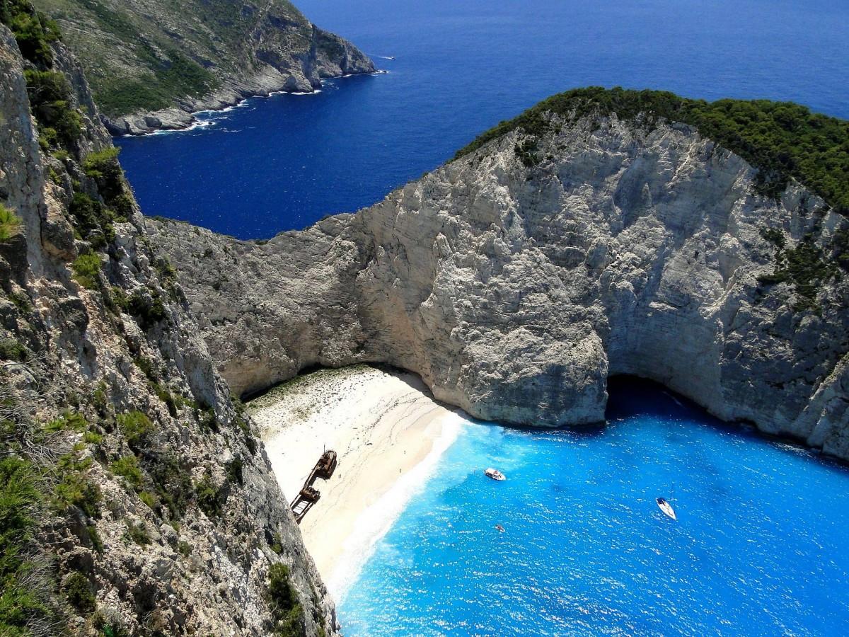 Zdjęcia: Zatoka Wraku., Zakynthos, Z serii: wspomnienia z Grecji - Zakynthos, Zatoka Wraku, GRECJA