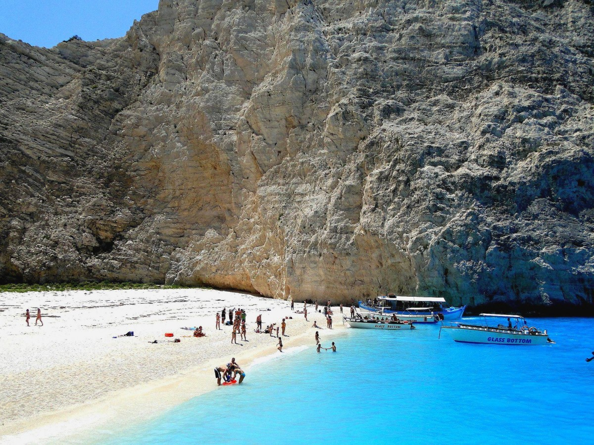 Zdjęcia: Plaża w Zatoce Wraku., Zakynthos, Z serii: wspomnienia z Grecji - Zakynthos, GRECJA