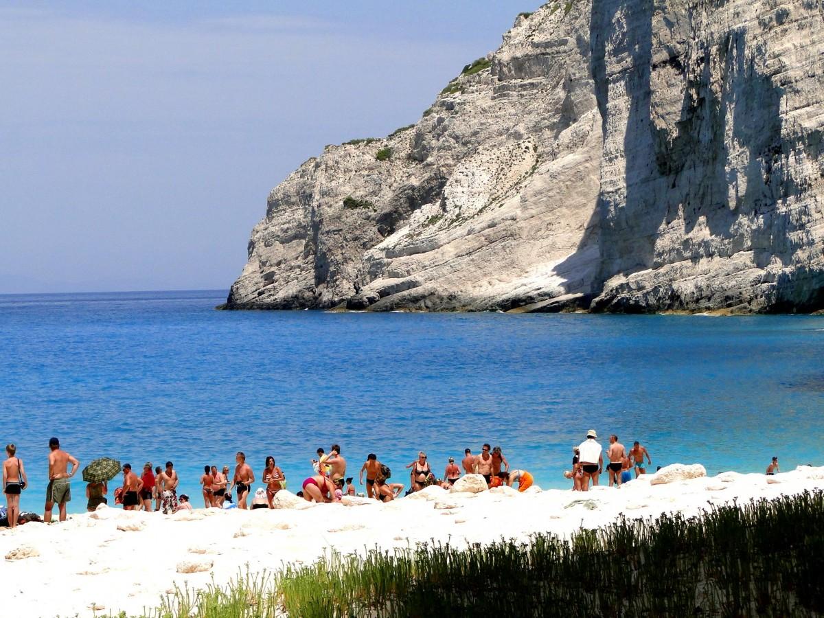 Zdjęcia: Plaża w Zatoce Wraku., Zakynthos, Z serii: wspomnienia z Grecji., GRECJA