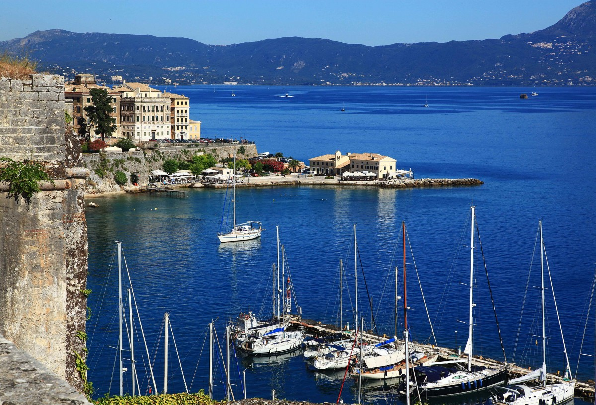 Zdjęcia: Stara Forteca , Korfu, Marina, GRECJA