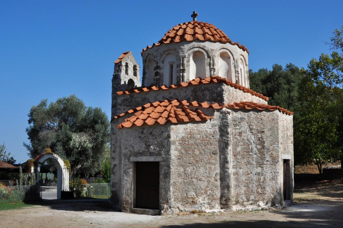 Zdjęcia: okolice Eleoussa, Rodos, Kościół św. Mikołaja, GRECJA