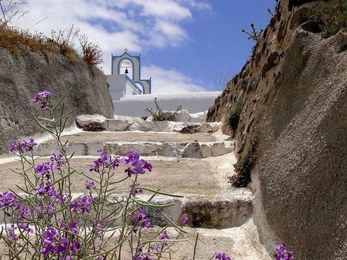 Zdjęcia: Megalohori, Santorini, Wspomnienie z Santorini., GRECJA