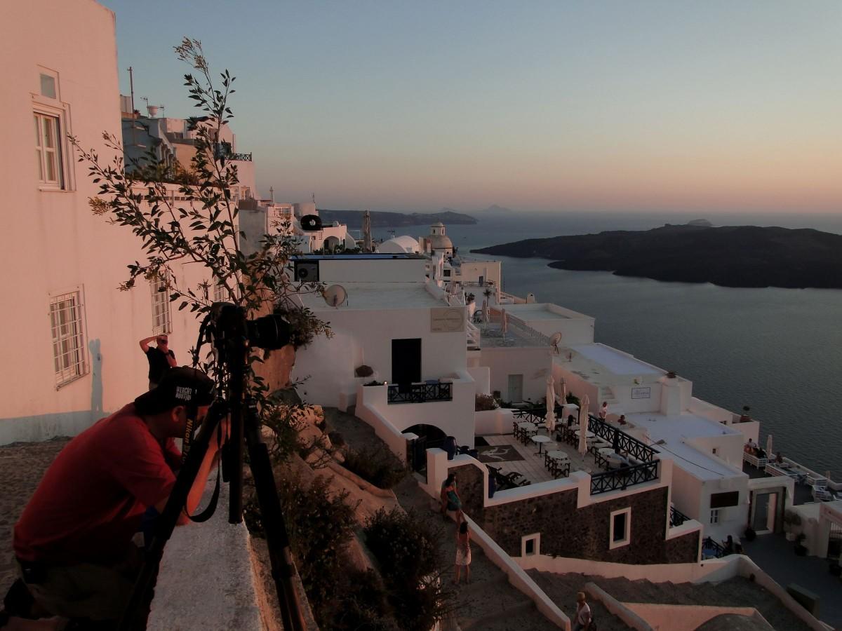 Zdjęcia: Fira, Santorini, Wieczór w Firze., GRECJA
