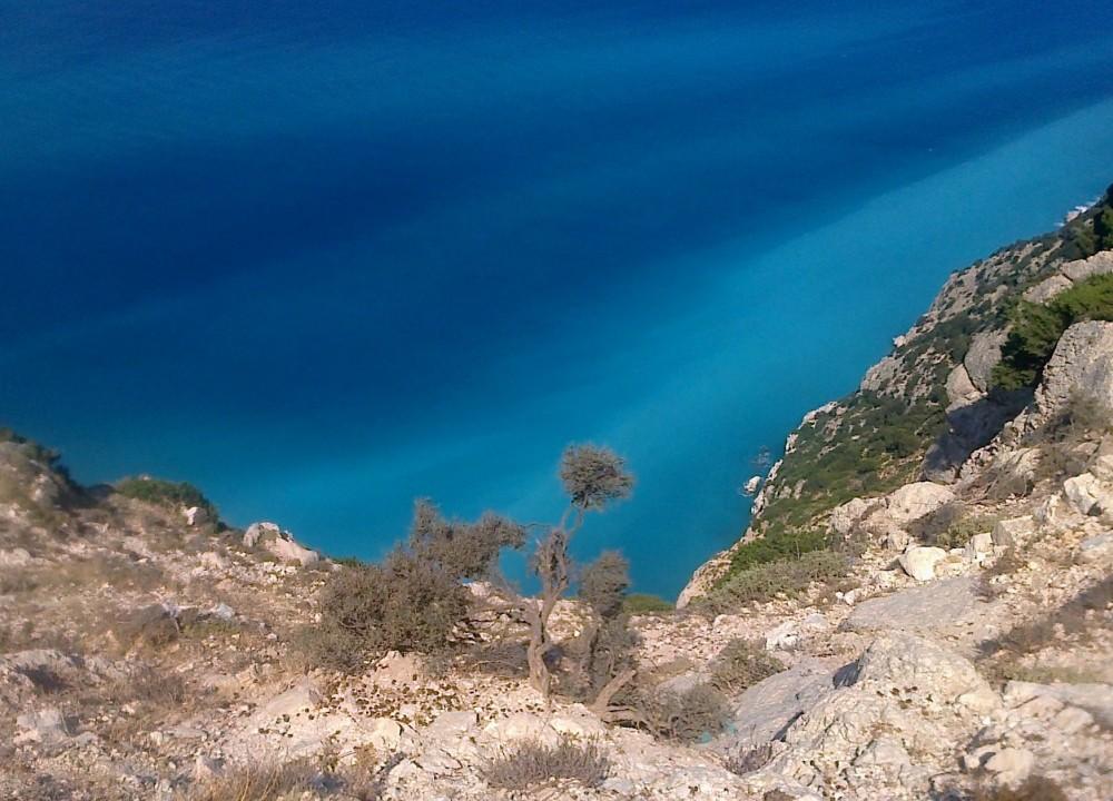 Zdjęcia: okolice Myrtos, Kefalonia, Czy to morze czy może niebo?, GRECJA