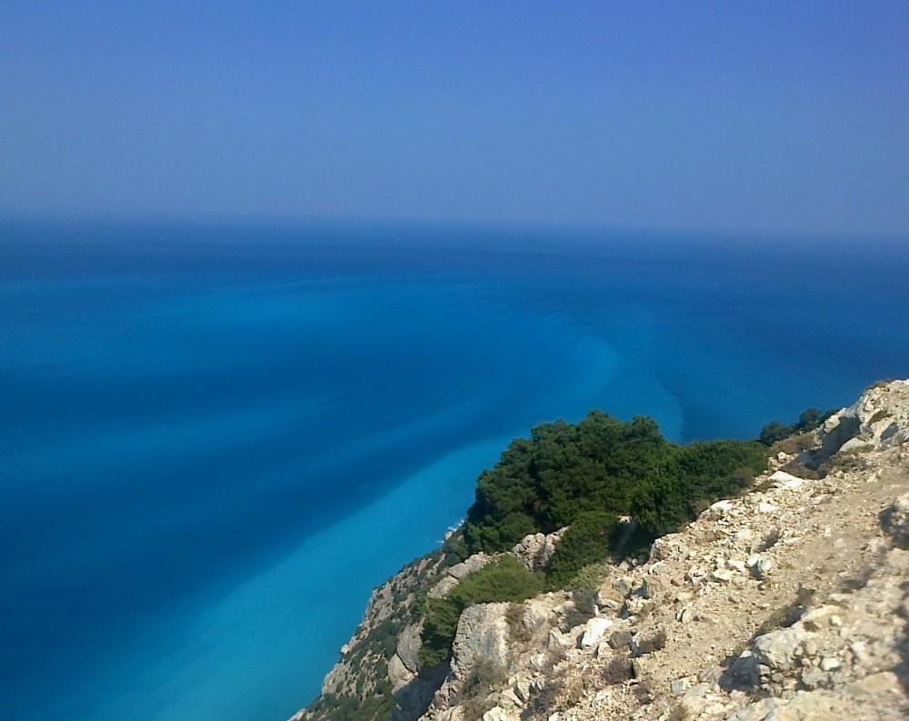 Zdjęcia: okolice Myrtos, Kefalonia, Odcienie jednego morza, GRECJA