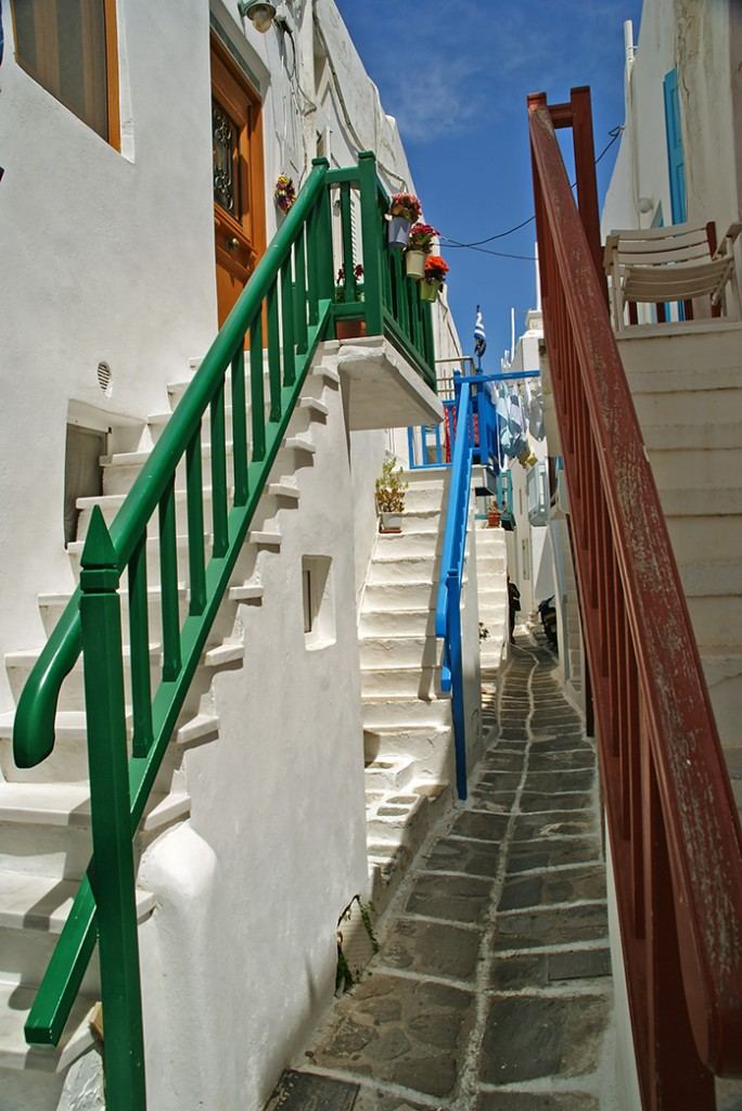 Zdjęcia: Mykonos, Cyklady, Uliczki Mykonos, GRECJA