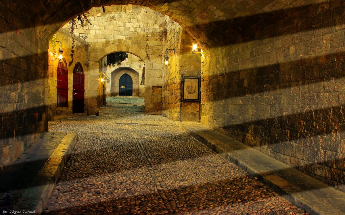 Zdjęcia: Rodos, Rodos, Zaułki Starego Miasta, GRECJA