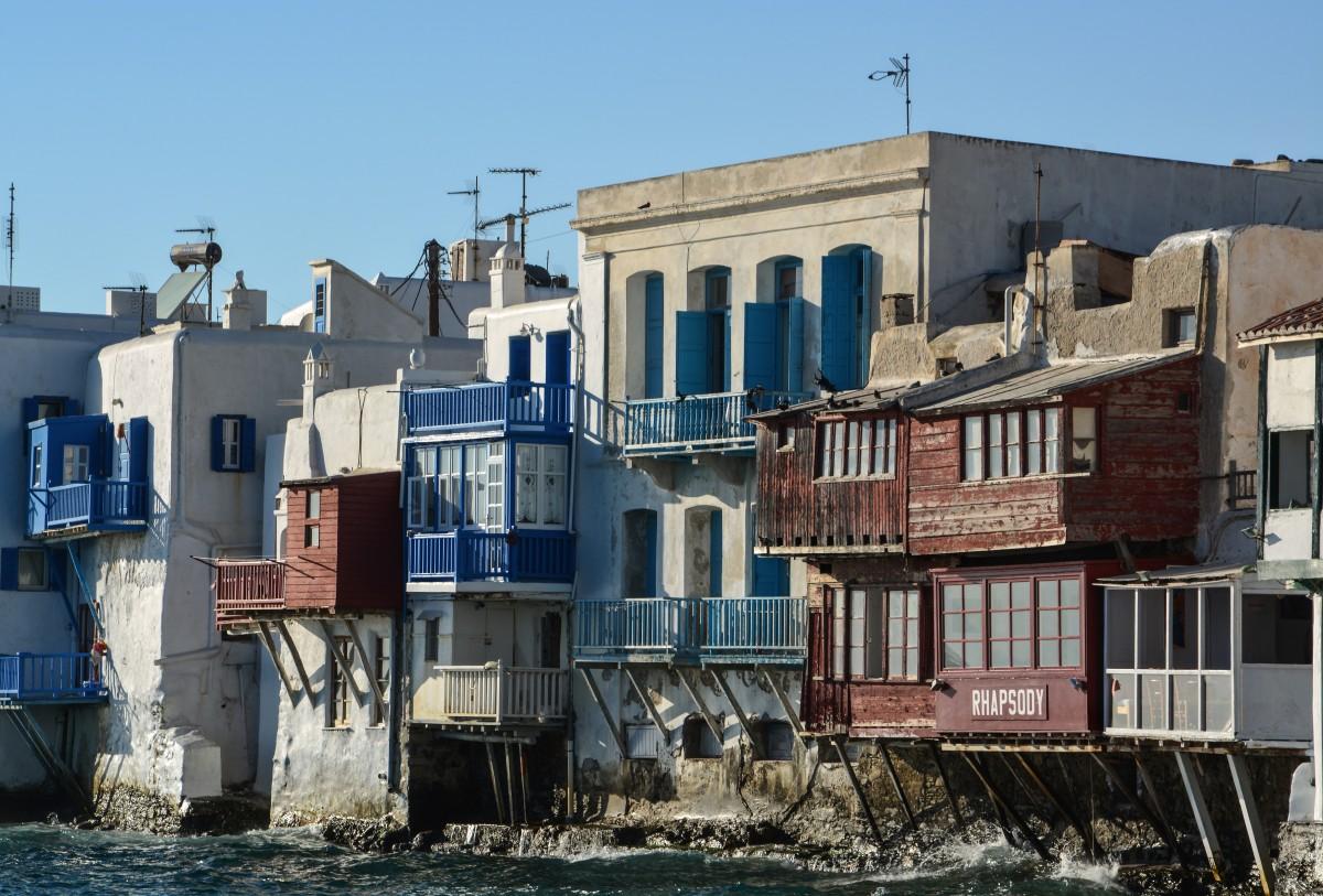 Zdjęcia: Mykonos, Cyklady, Mała Wenecja, GRECJA