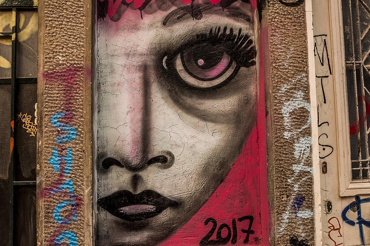 Zdjęcia: Ateny, Attyka, mural, GRECJA