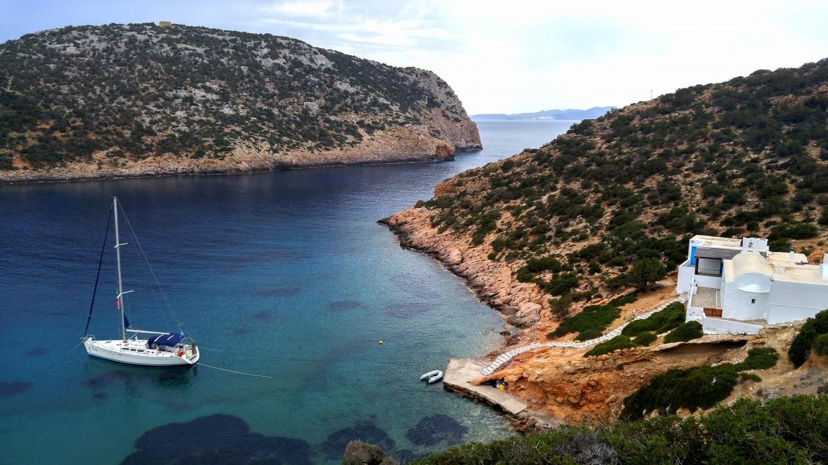 Zdjęcia: Sifnos, Cyklady, Zatoczka Fykiada, GRECJA